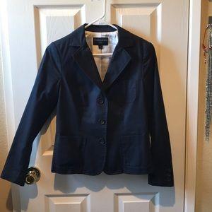 Banana republic navy blue lined blazer size PS 🌸
